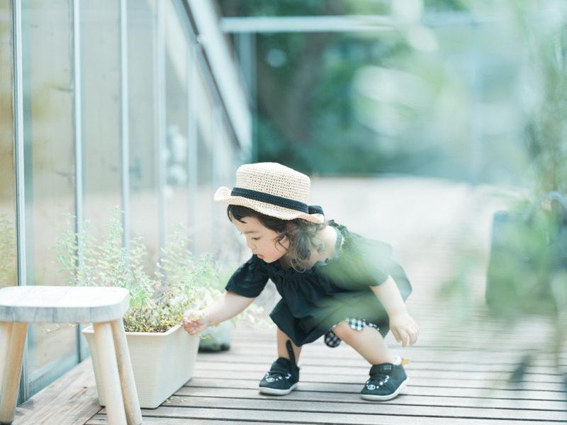 2歳バースデーフォト、こうちゃん!麦わら帽子、カンカン帽
