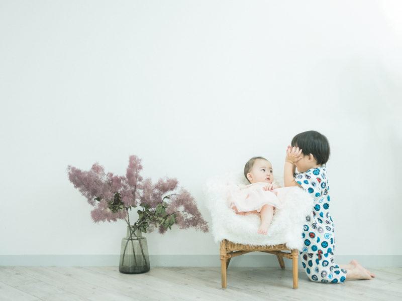 りんちゃん、7ヶ月!家族写真、兄弟で