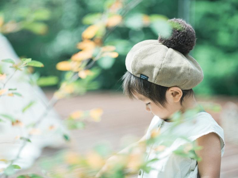 2歳バースデーフォト、ゆづるくん!お洒落帽子