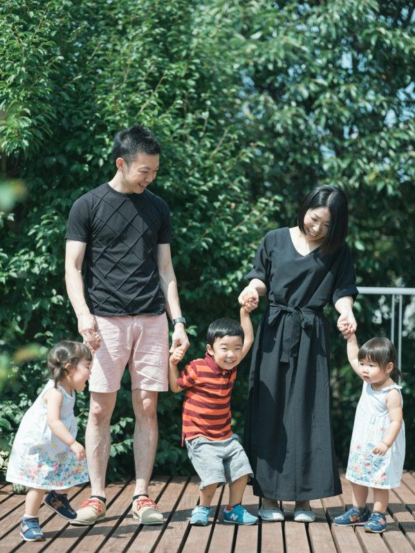 夏、家族写真、外、imairo