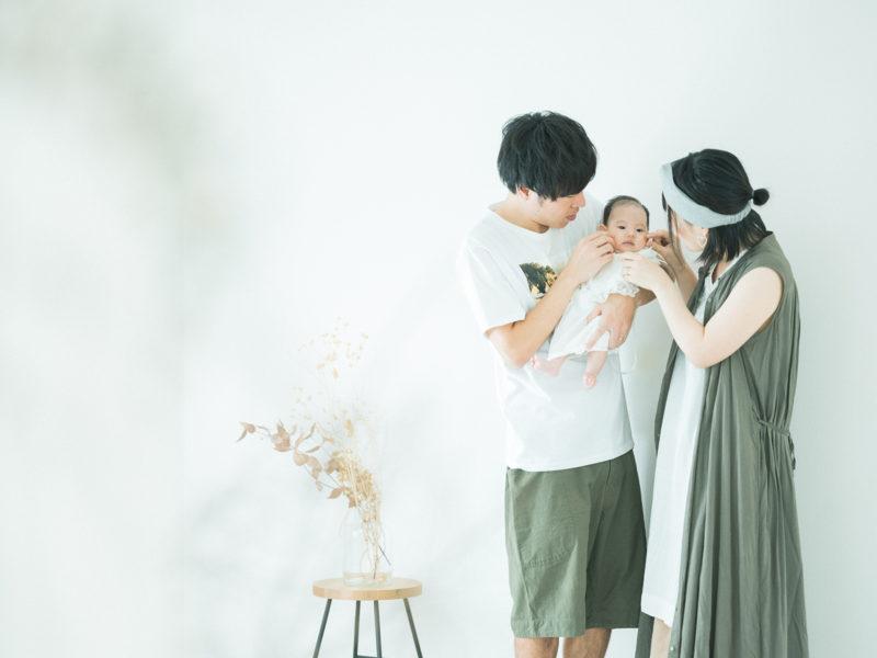 お宮参り、つむぎちゃん!家族写真
