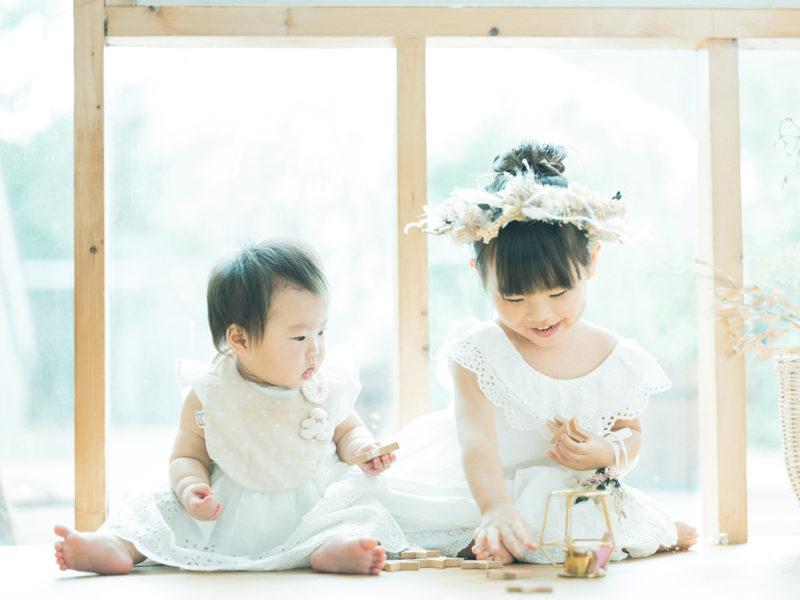 3歳七五三、みれいちゃん!姉妹写真