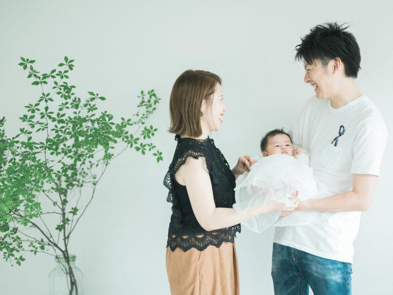 百日祝い、みのりちゃん!家族写真