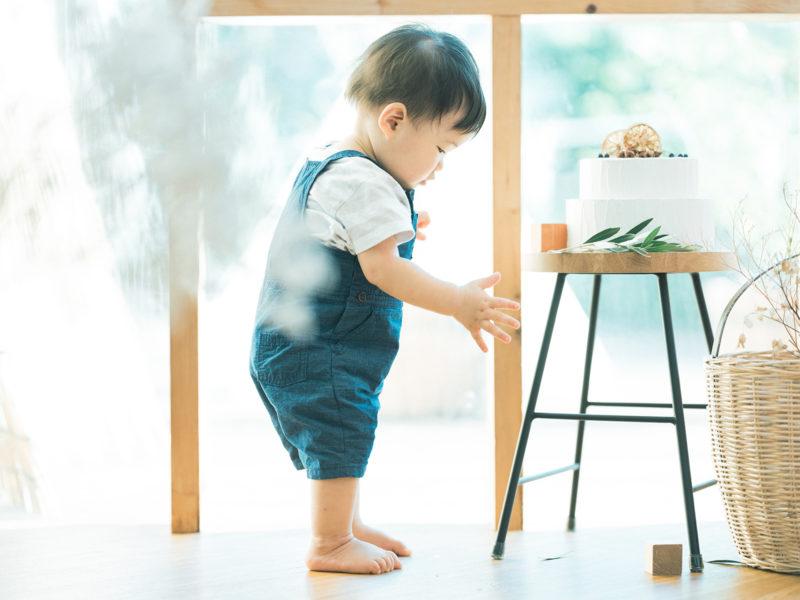 1歳バースデーフォト、いちなくん!クレイケーキ