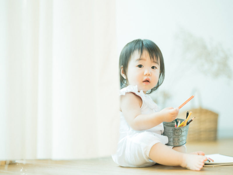 1歳バースデーフォト、こはなちゃん!