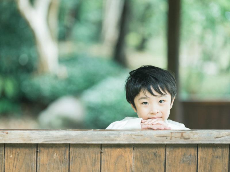 5歳七五三、こうちゃん!中央公園ロケ!
