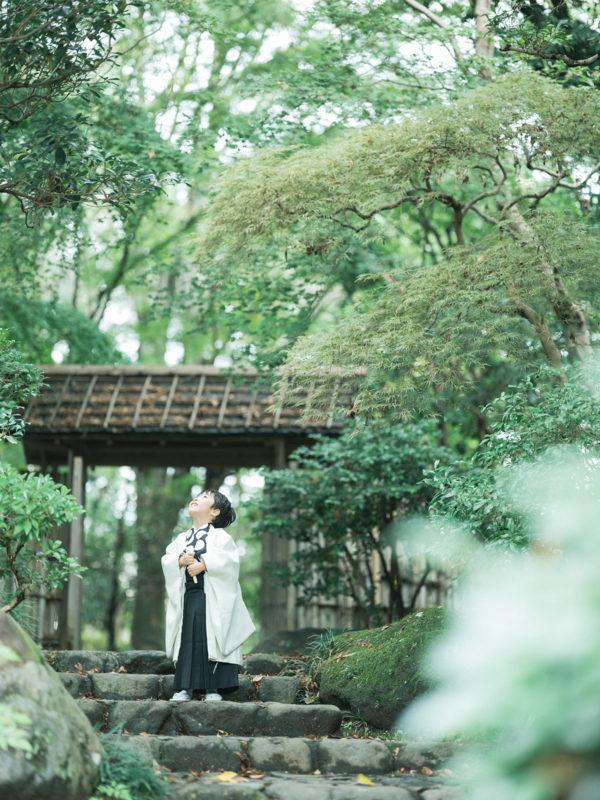 5歳七五三、こうちゃん!中央公園ロケ!日本庭園