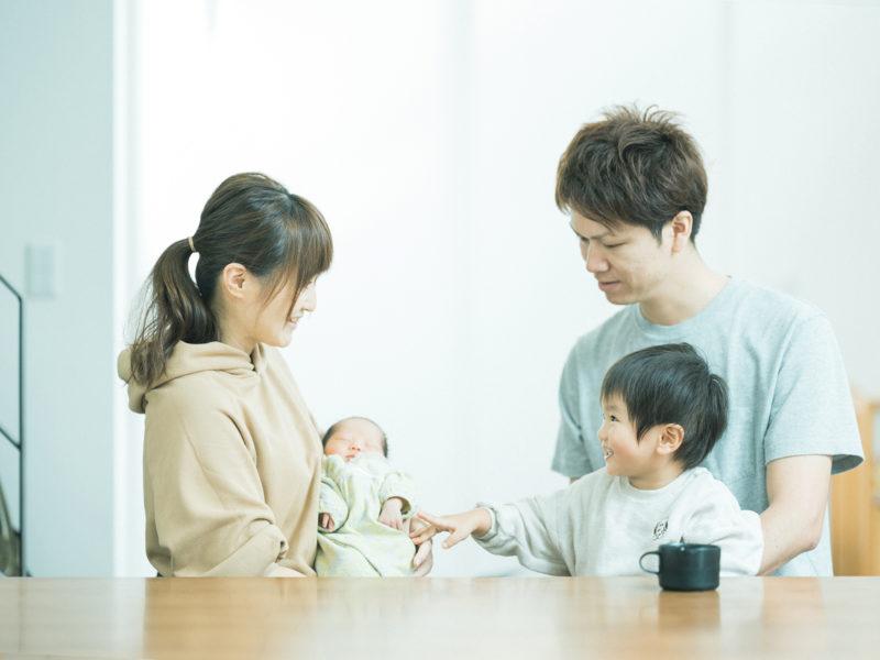 那須烏山市、自宅出張撮影ニューボーンフォト、ふたばちゃん!家族写真