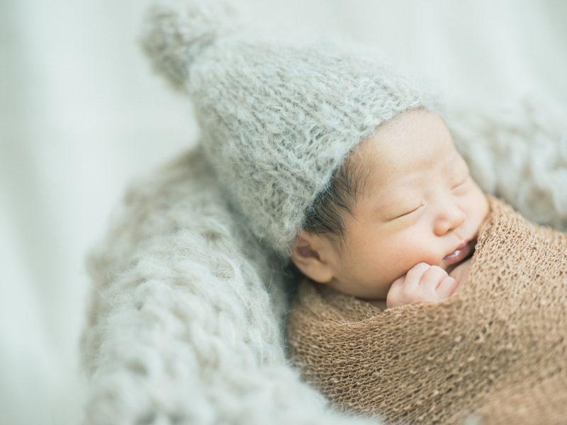 那須烏山市、自宅出張撮影ニューボーンフォト、ふたばちゃん!可愛い帽子