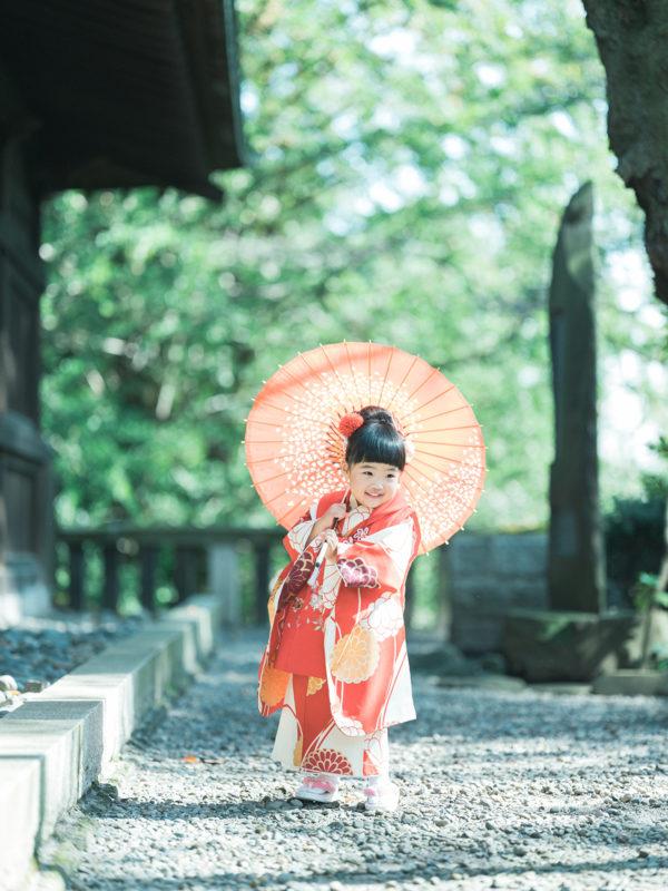 宇都宮二荒山神社、七五三ロケ、ときちゃん!番傘