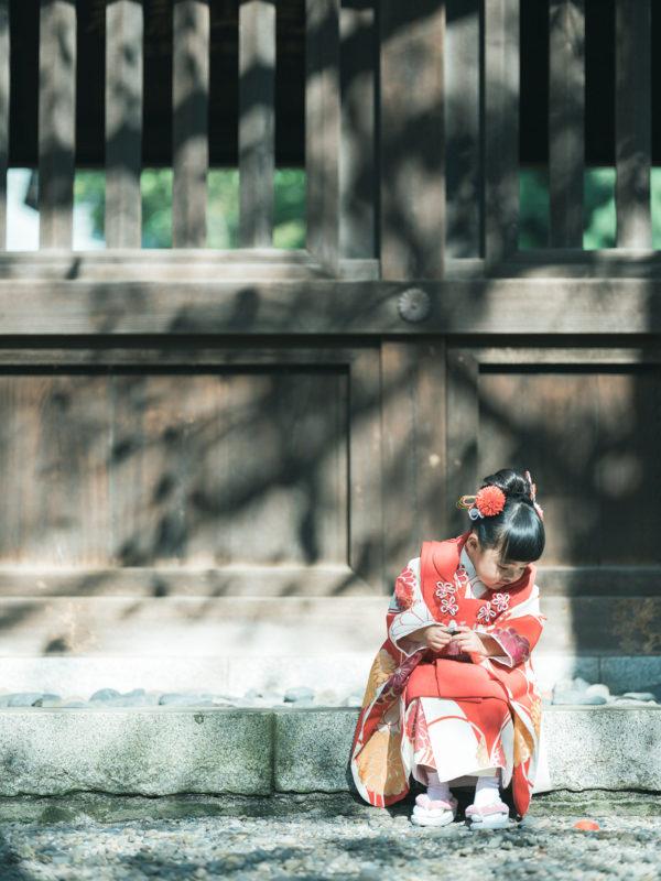 宇都宮二荒山神社、七五三ロケ、ときちゃん!着物