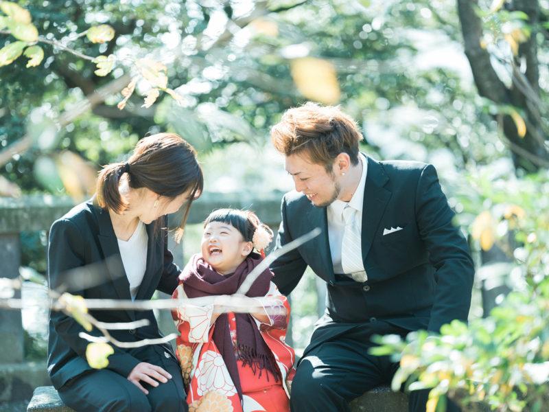 宇都宮二荒山神社、七五三ロケ、ときちゃん!家族写真