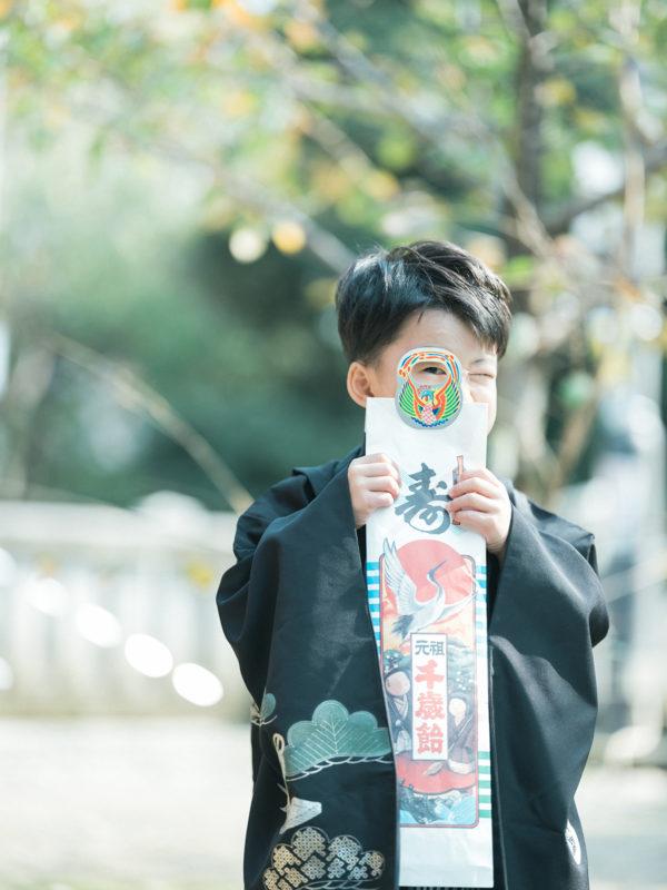 宇都宮二荒山神社、5歳七五三、おうちゃん!千歳飴