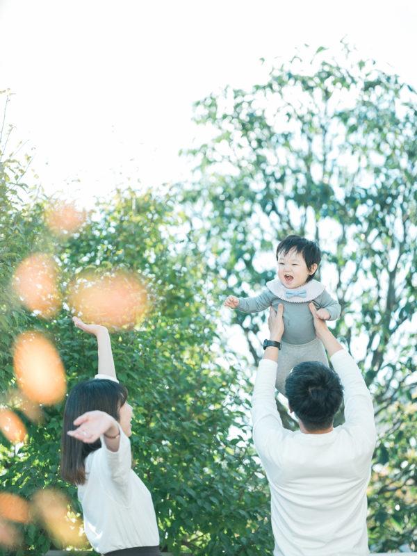1歳バースデーフォト、こうたろうくん!家族写真