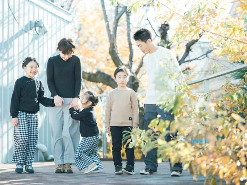 3歳七五三、ここちゃん!家族写真
