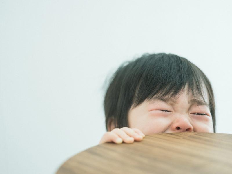 1歳バースデーフォト、ゆうちゃん!泣き顔