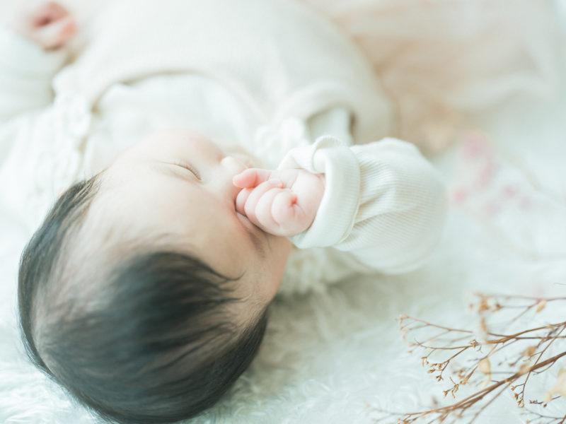 お宮参り、100日祝い!なぎちゃん!眠い