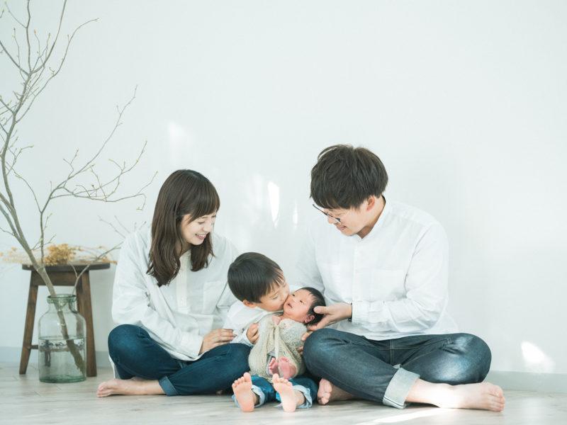 スタジオニューボーンフォト!かやちゃん!家族写真