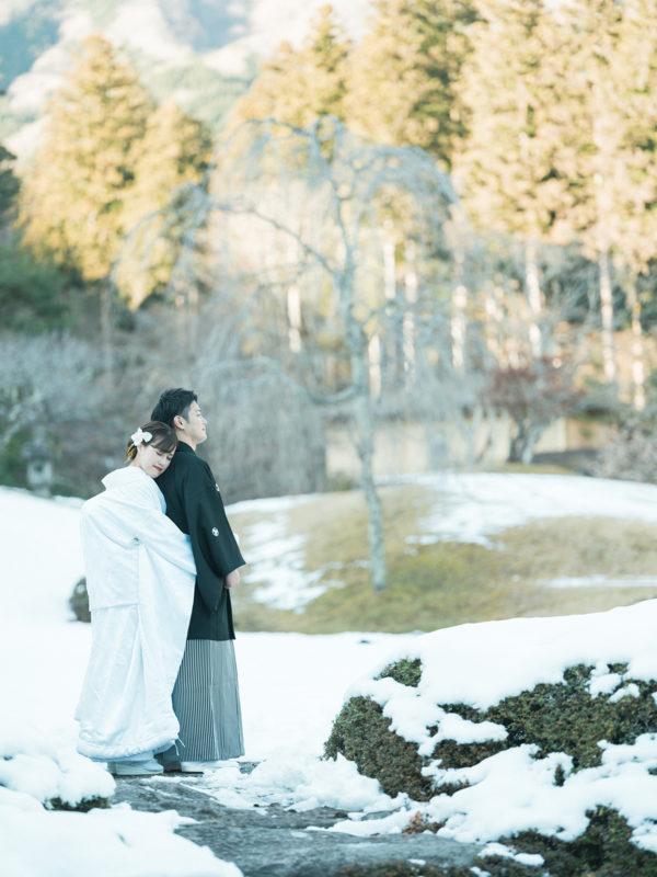 鹿沼市、古峯神社!和装前撮り!雪の中