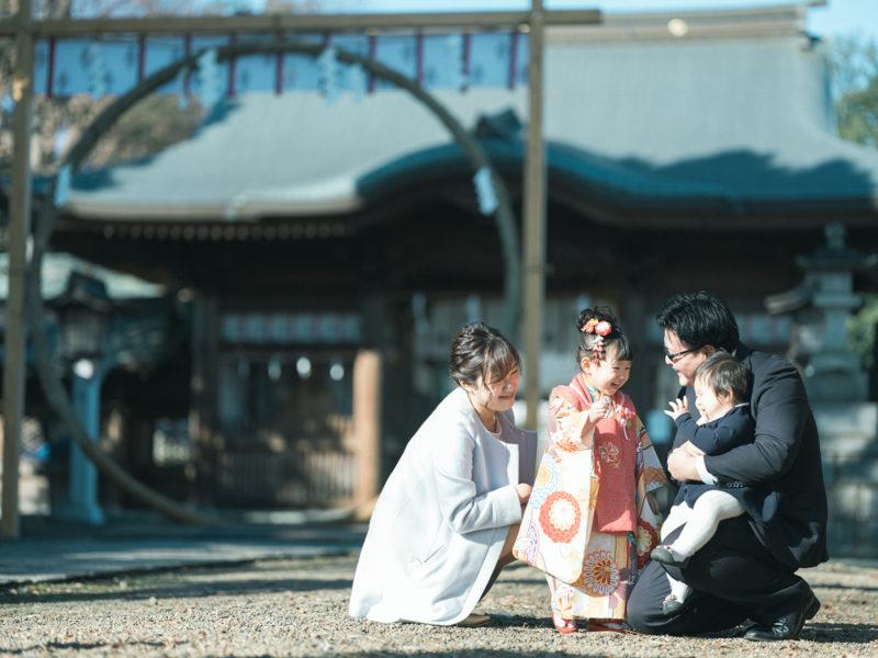 小山市、須賀神社、3歳七五三、すーちゃん!家族写真