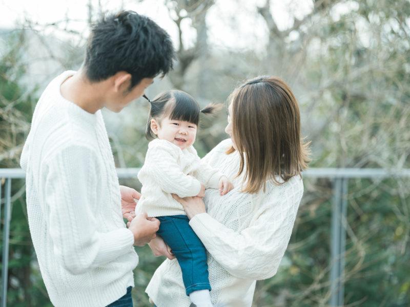 1歳バースデーフォト、いちかちゃん!家族写真