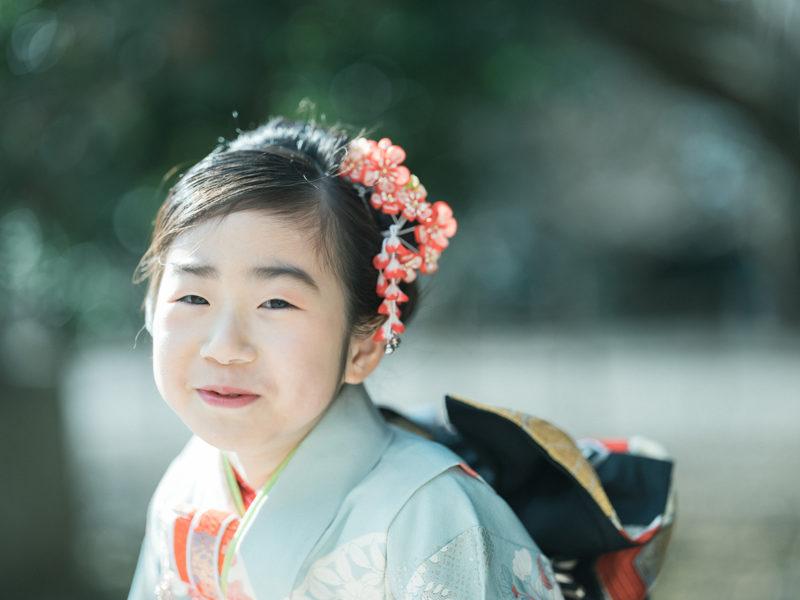 7歳七五三、護国神社ロケ、ゆうりちゃん!可愛い