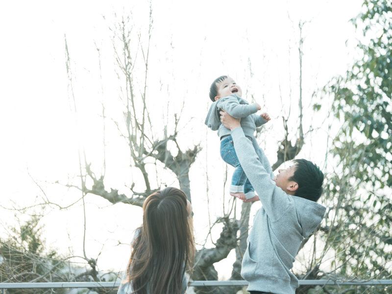 1歳バースデーフォト、はるとくん!家族写真