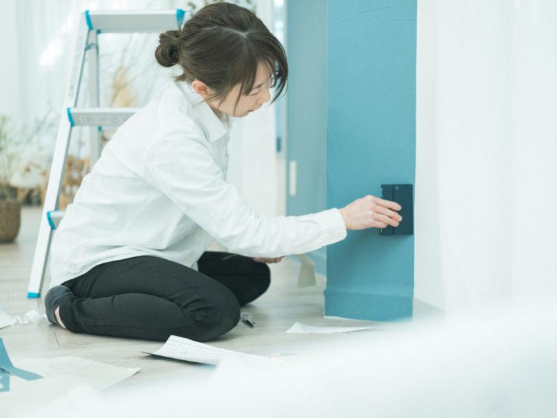 壁紙DIY!1Fブルー、きわ