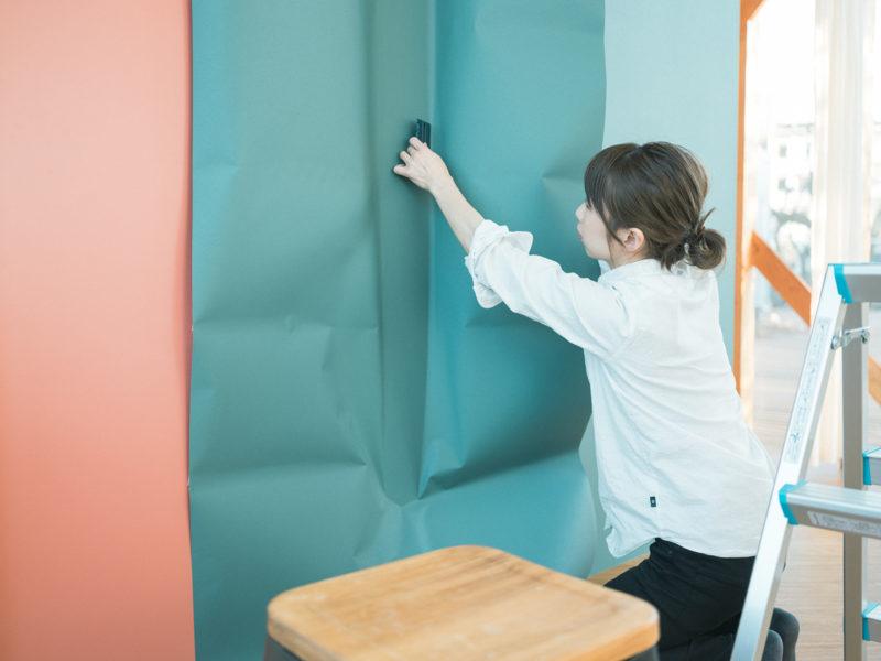 壁紙DIY!2Fグリーン、さらにはりはり