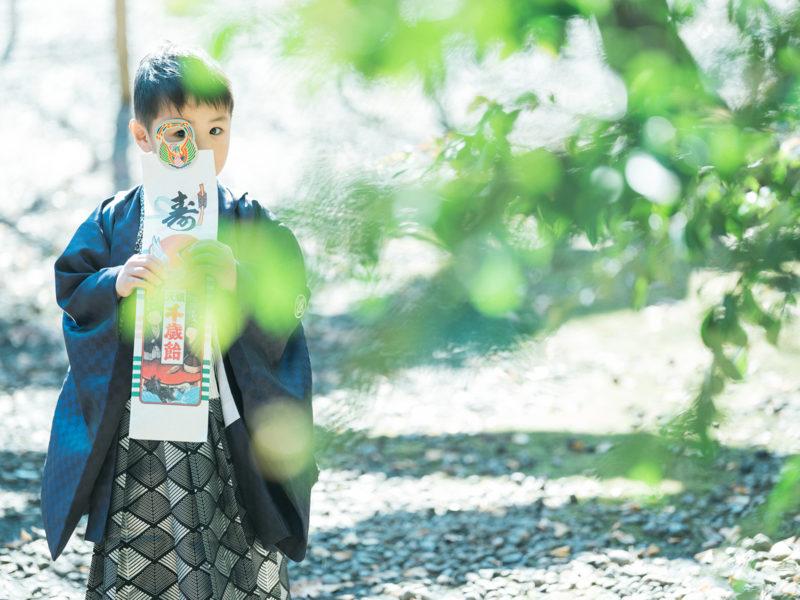 栃木県護国神社、5歳七五三、しゅんくん!千歳飴