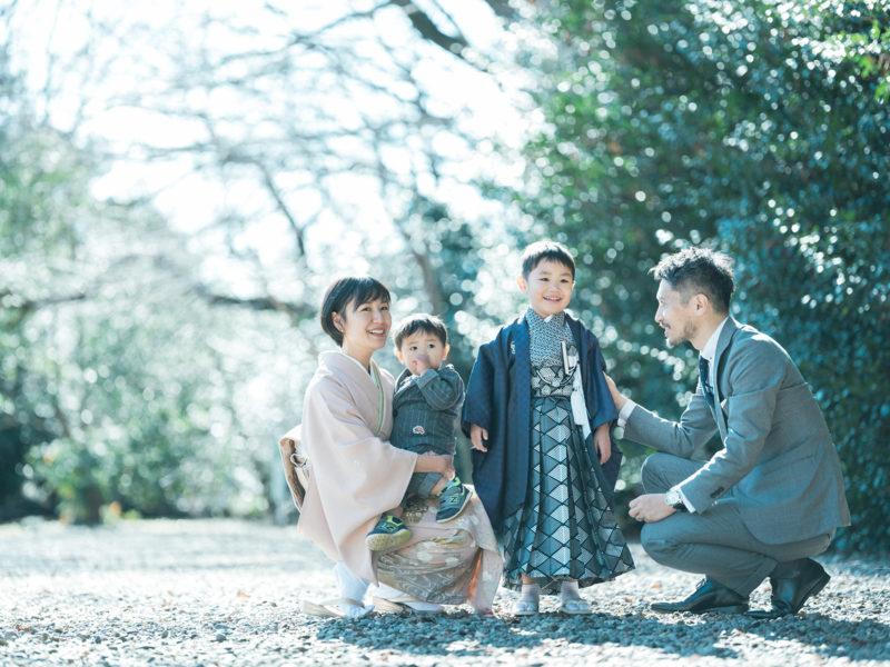栃木県護国神社、5歳七五三、しゅんくん!家族写真