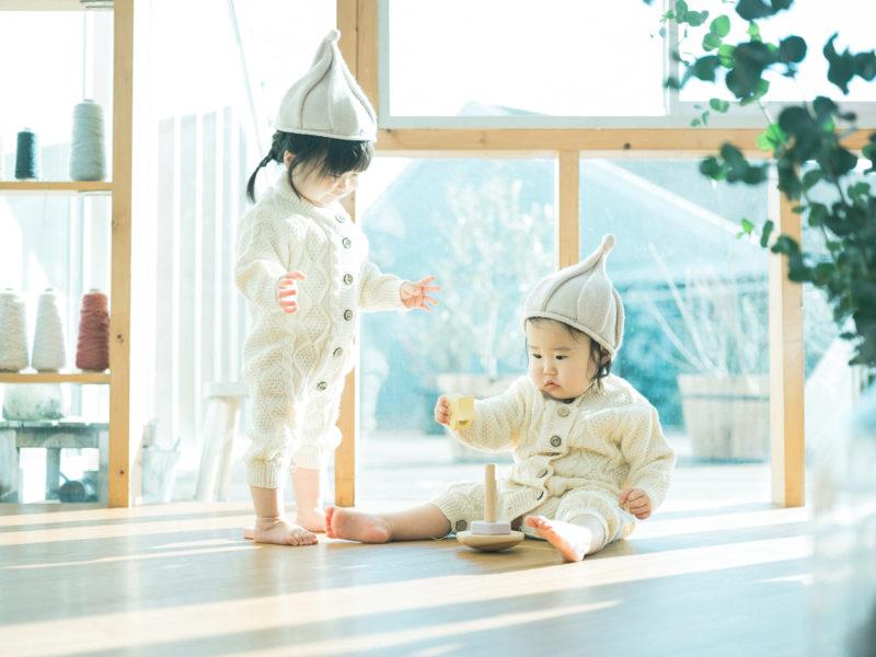 1歳双子バースデー、りほちゃん、さらちゃん!お揃いコーデ