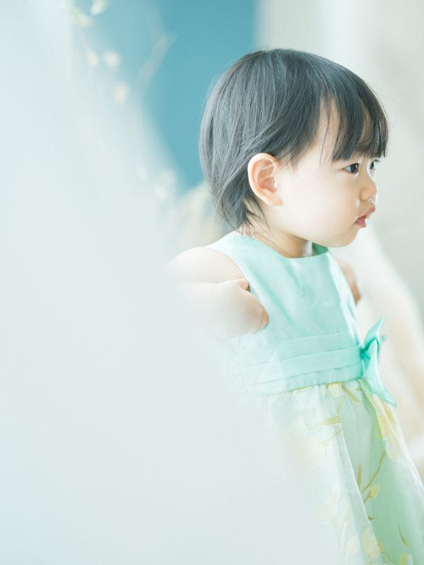 2歳バースデーフォト、みつきちゃん!ドレス