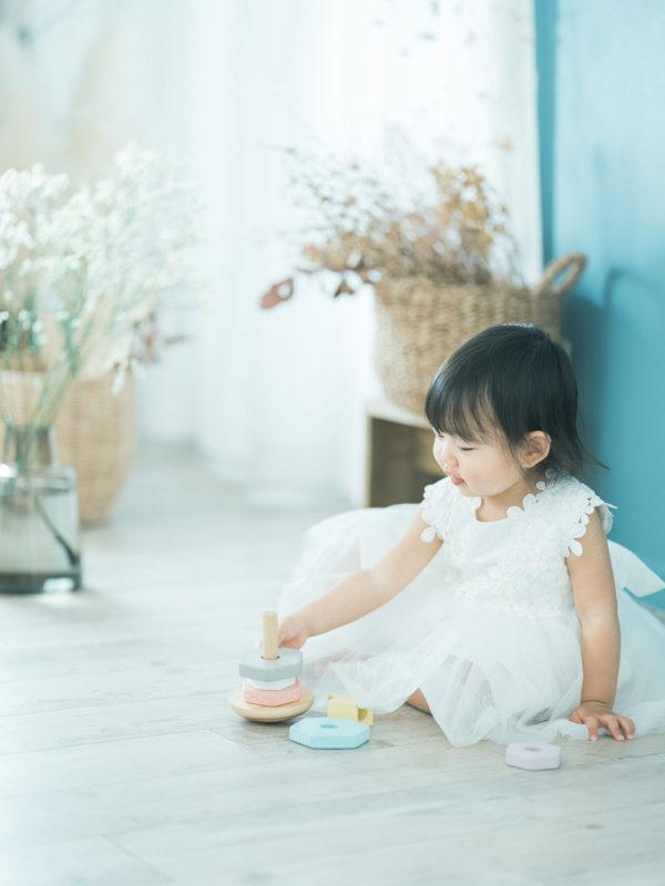 2歳バースデーフォト、みつきちゃん!女子