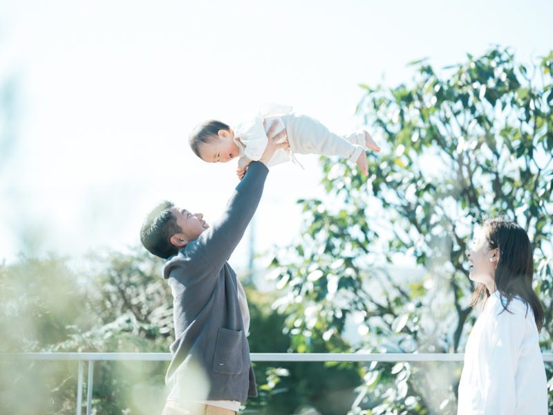 1歳バースデーフォト、かいちくん!家族写真