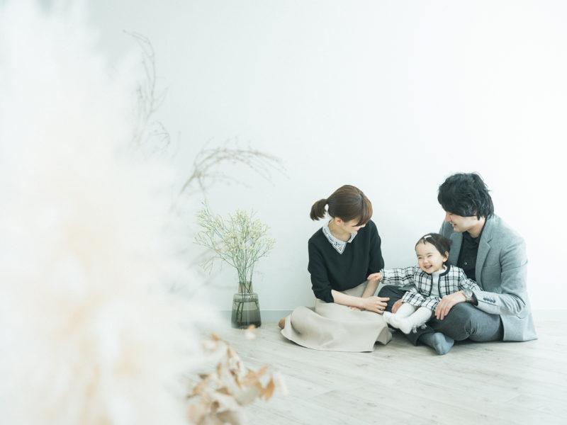 2歳バースデーフォト、えまちゃん!家族写真