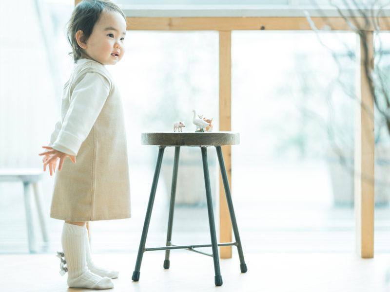 2歳バースデーフォト、えまちゃん!おもちゃ