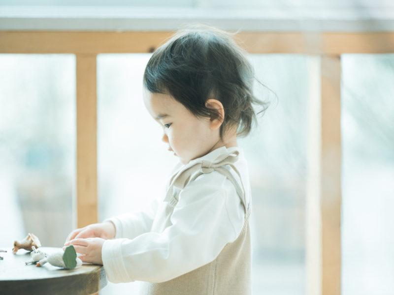 2歳バースデーフォト、えまちゃん!横顔