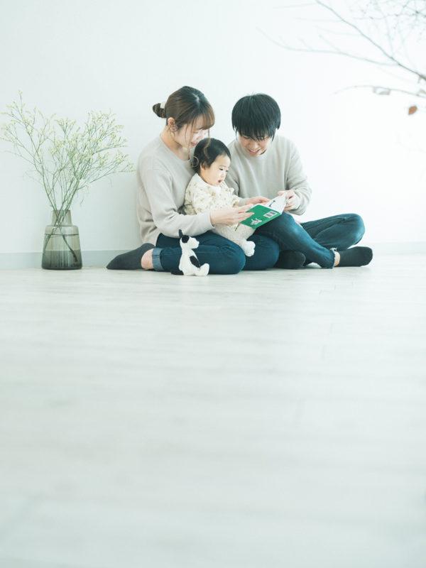 1歳バースデーフォト、ふゆちゃん!家族写真