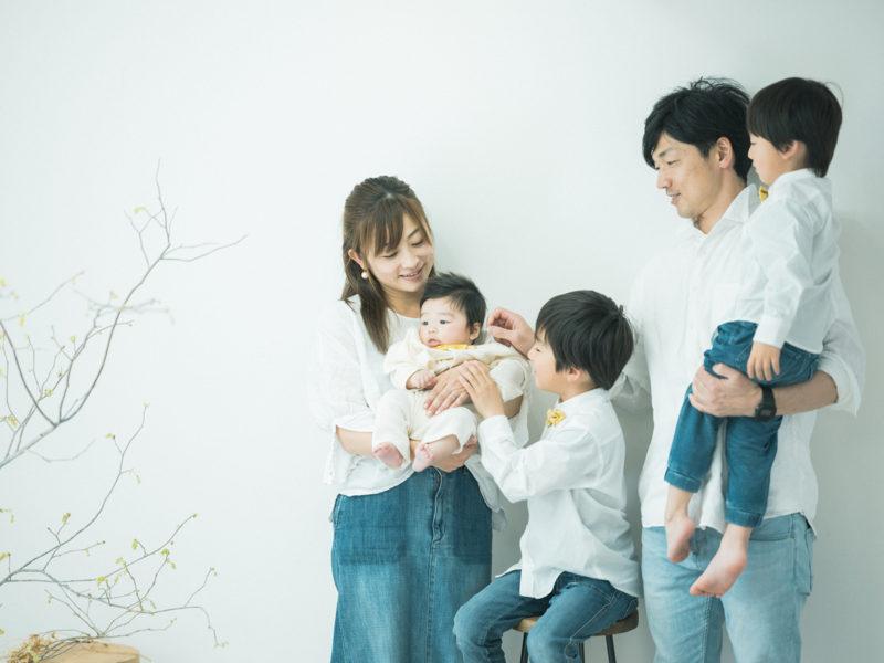 家族写真、お揃いコーデ