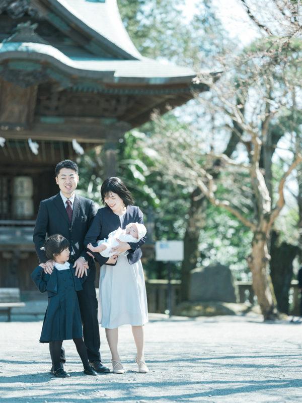 宇都宮二荒山神社、お宮参り!家族写真