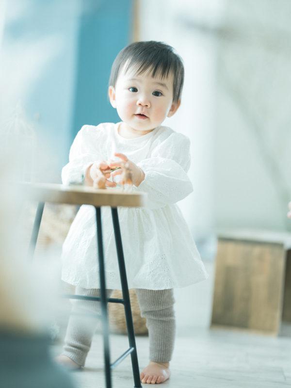1歳バースデーフォト、かのんちゃん!ナチュラル