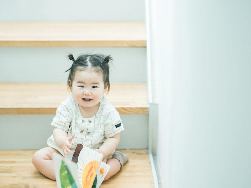 1歳バースデーフォト、つくしちゃん!絵本