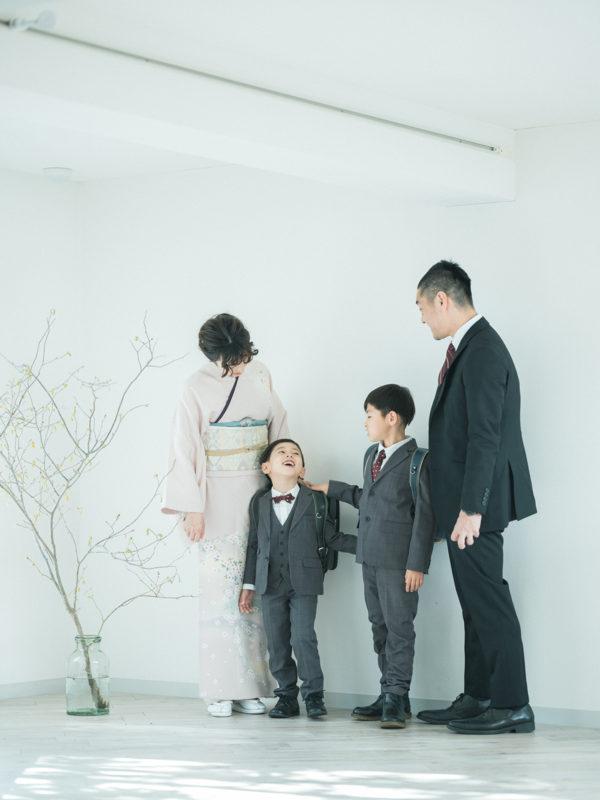 栃木県宇都宮市、入学記念、とうまくん!家族写真