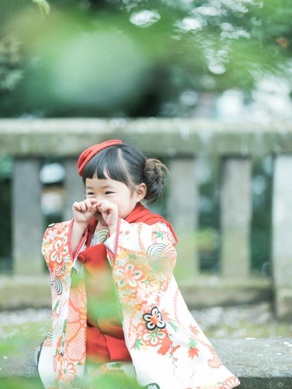宇都宮二荒山神社、3歳七五三、ゆあちゃん!お洒落帽子」
