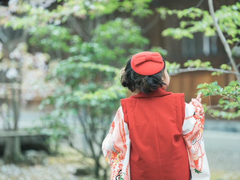 宇都宮二荒山神社、3歳七五三、ゆあちゃん!後ろ姿