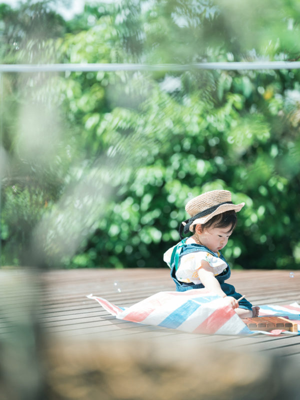 1歳バースデーフォト、りのちゃん!カンカン帽