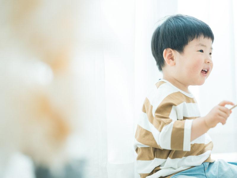 2歳バースデーフォト、こうしろうくん!木琴