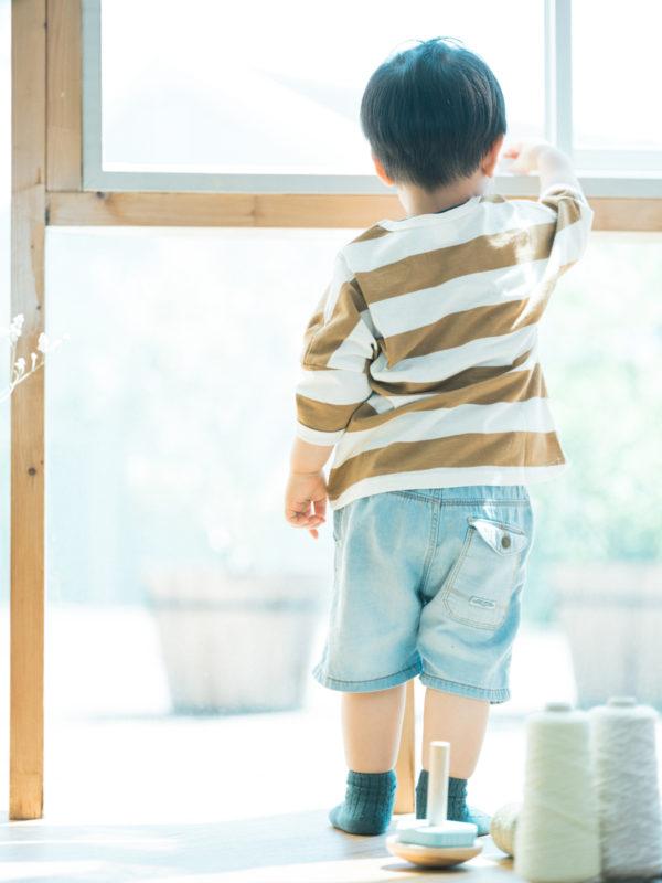 2歳バースデーフォト、こうしろうくん!後ろ姿