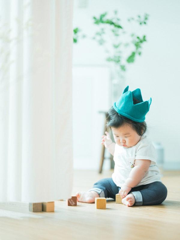 ハーフバースデー、ゆうくん!可愛い帽子